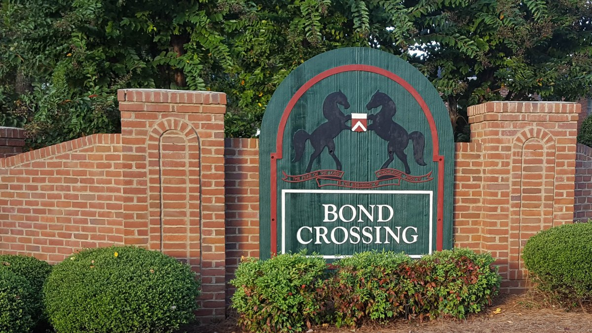 Bond Crossing subdivision Oconee County