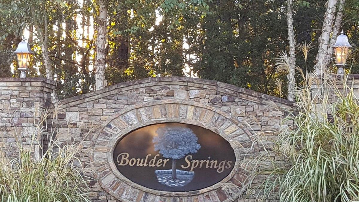 Boulder Springs subdivision Oconee County