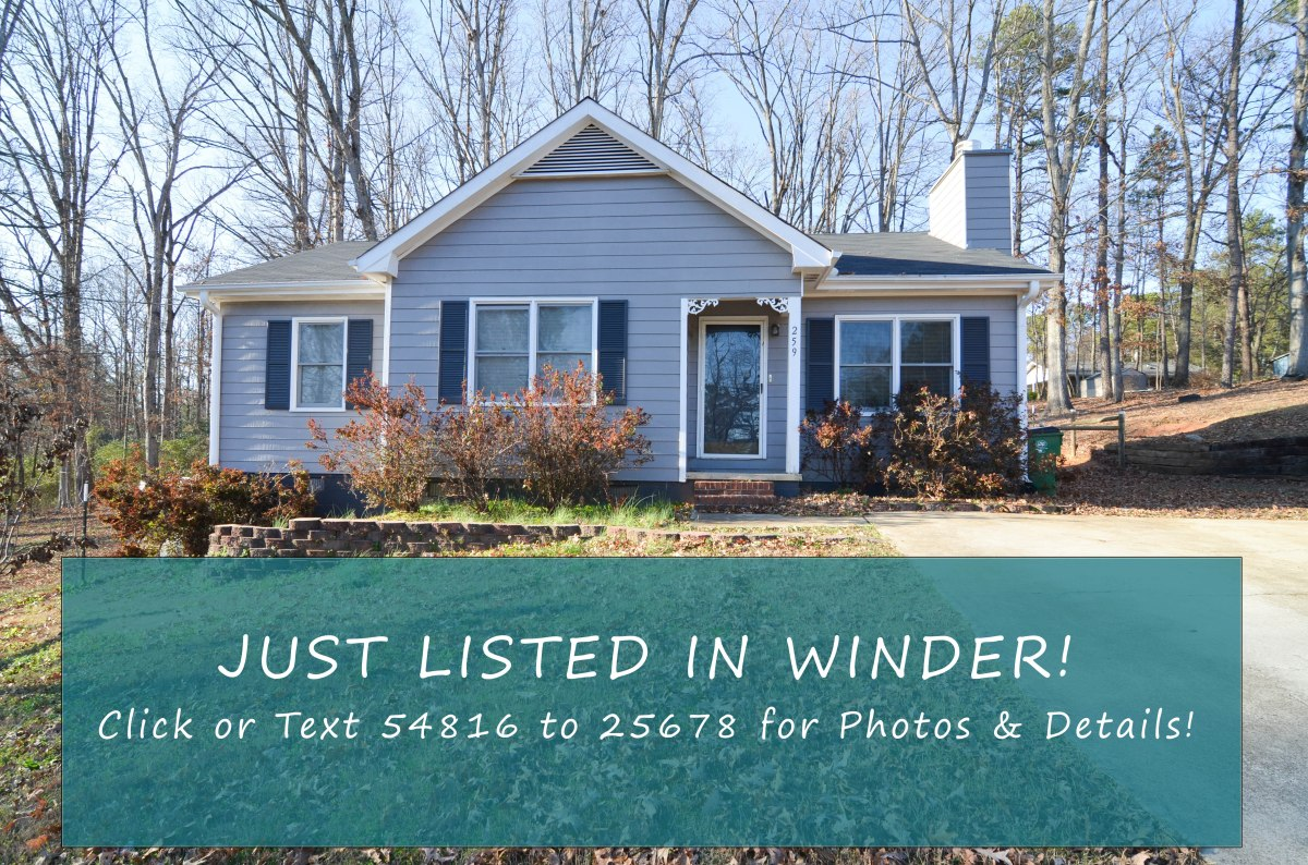 Just Listed! 259 Kesler Ct Winder GA